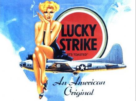 Lucky Strike Cigarettes Metal Wall Sign (3 sizes)
